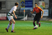 Pictured: Simon Paulet of Swansea City u19's in action during the FAW youth cup final between Swansea City and The New Saints at Park Avenue in Aberystwyth Town, Wales, UK.<br /> Wednesday 17 April 2019