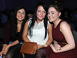 Aisling Murtagh, Natalie McArdle and Vanessa Caffrey pictured at the Tullyallen white collar boxing. Photo: Colin Bell/pressphotos.ie