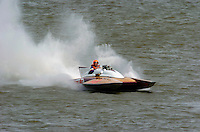 "Bill Cousins, H-69 ""River Rat"", Cousins 7 Litre Div I class hydroplane..2004 Madison Regatta, Madison, Indiana, July 4, 2004..F. Peirce Williams .photography.P.O.Box 455 Eaton, OH 45320.p: 317.358.7326  e: fpwp@mac.com."