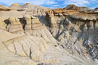 Badland formations. UNESCO World Heritage Site<br /> Dinosaur Provincial Park<br /> Alberta<br /> Canada