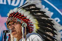 Jefe Indio,  Durante el encuentro de los pueblos indios de America