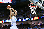 18 January 2014: North Carolina's Brice Johnson dunks the ball. The University of North Carolina Tar Heels played the Boston College Eagles in an NCAA Division I Men's basketball game at the Dean E. Smith Center in Chapel Hill, North Carolina. UNC won the game 82-71.