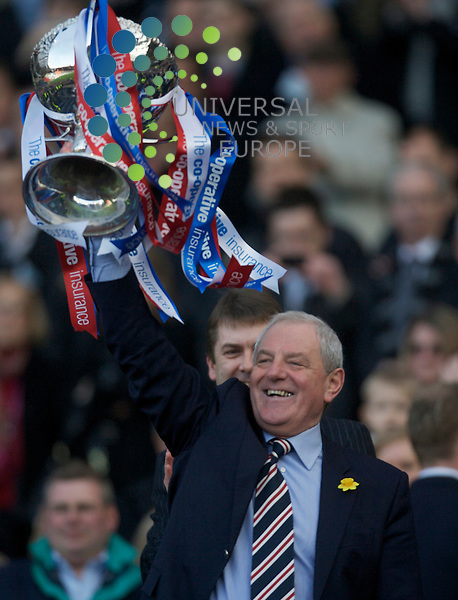 Former Rangers manager Walter Smith has been appointed chairman of the club after Malcolm Murray agreed to stand down. Mr Smith, who is currently a non-executive director of Rangers International Football Club plc, has taken over the role, the club announced to the London Stock Exchange. The 65-year-old ended a second spell in charge of the Ibrox club in 2011, before being appointed as a director last year following the acquisition of Rangers' assets by a consortium led by Charles Green. Picture: The Co-operative Insurance  Cup  Final Season 2009/10. Rangers Football Club  v St Mirren Football Club... Rangers Mnager Walter Smith celebrates his teams 1-0 win  during today's thrilling Final tie between SPL sides Rangers and St Mirren...At The National Stadium Hampden Park, Glasgow...Picture, Mark Davison/Universal News and Sport.