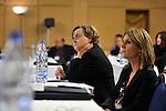 "DJERBA - TUNISIA - 13 March 2012 -- European Training Foundation (ETF) / Tunisian Ministry of Vocational Training and Employment (MFPE) Project Launch -  ""Human Capital for Regional Socio-Economic Development (Medenine, Tunisia)"". --  (L) Francoise MILLECAM, European Union Delegation to Tunisia; (R) Eva JIMENO, ETF  -- PHOTO: Lindsay MACKENZIE / EUP-IMAGES."