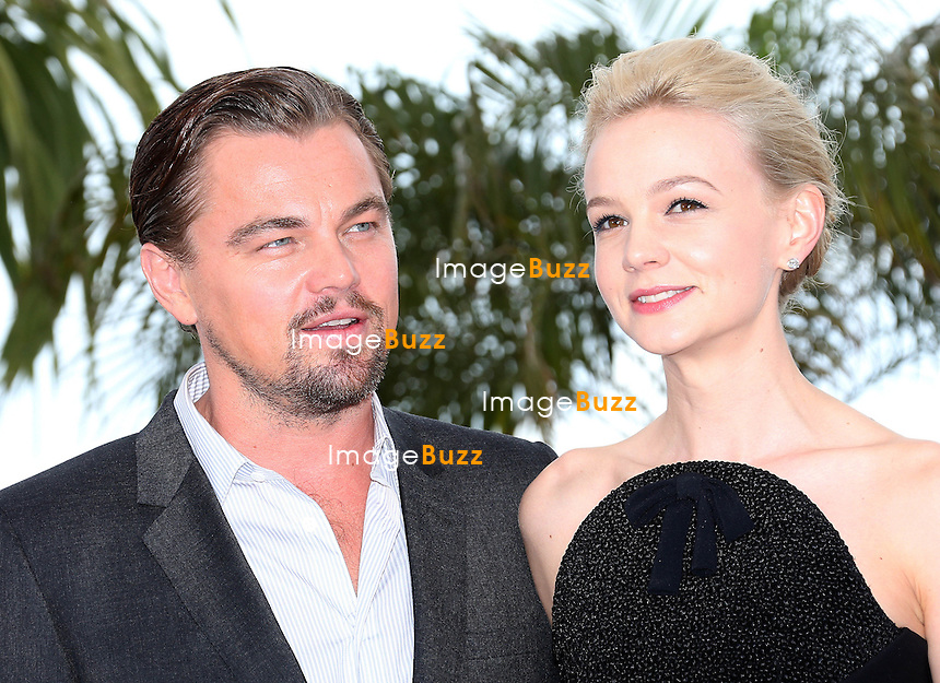 CPE/Carey Mulligan and Leonardo DiCaprio attend 'The Great Gatsby' photocall on May 15, 2013 in Cannes, France.