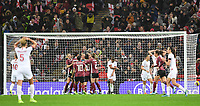 9th November 2019; Wembley Stadium, London, England; International Womens Football Friendly, England women versus Germany women; a desolate Nikita Parris of England after missing her penalty which is saved by Merle Frohms of Germany - Editorial Use