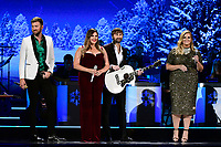 25 September 2019 - Nashville, Tennessee - Trisha Yearwood, Charles Kelley, Dave Haywood, Hillary Scott, Lady Antebellum. 2019 CMA Country Christmas held at the Curb Event Center. Photo Credit: Dara-Michelle Farr/AdMedia
