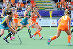 The Hague, Netherlands, June 14: Naomi van As #18 of The Netherlands in action during the field hockey gold medal match (Women) between Australia and The Netherlands on June 14, 2014 during the World Cup 2014 at Kyocera Stadium in The Hague, Netherlands. Final score 2-0 (2-0)  (Photo by Dirk Markgraf / www.265-images.com) *** Local caption ***