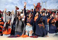 ANDREW SHURTLEFF/THE DAILY PROGRESS <br /> Virginia fans react to a touchdown in the 2nd quarter during the game against Duke Saturday at Scott Stadium. Virginia defeated Duke 48-14.
