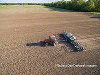 63801-10117 Farmer planting corn-aerial Marion Co. IL