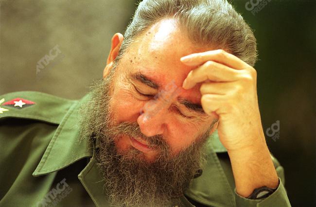 Fidel Castro, Cuban president, Havana, Cuba, February 1995.