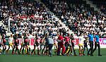 AMSTELVEEN - Hockey - Hoofdklasse competitie dames. AMSTERDAM-DEN BOSCH (3-1) line up . Wagener Stadion.   COPYRIGHT KOEN SUYK