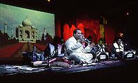Rahat Nusrat Fateh Ali Khan.<br /> Pakistani singer, primarily of Qawwali, a devotional music of the Muslim Sufis.<br /> The DRUM Cultural Centre, Birmingham, England, September 2003