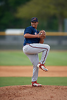 Atlanta Braves Lisandro Santos (24) during a Minor League Spring Training game against the New York Yankees on March 12, 2019 at New York Yankees Minor League Complex in Tampa, Florida.  (Mike Janes/Four Seam Images)
