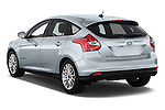 Car pictures of rear three quarter view of a 2014 Ford FOCUS 5P 107kW Electric 142 ch 5 Door Hatchback 2WD Angular Rear