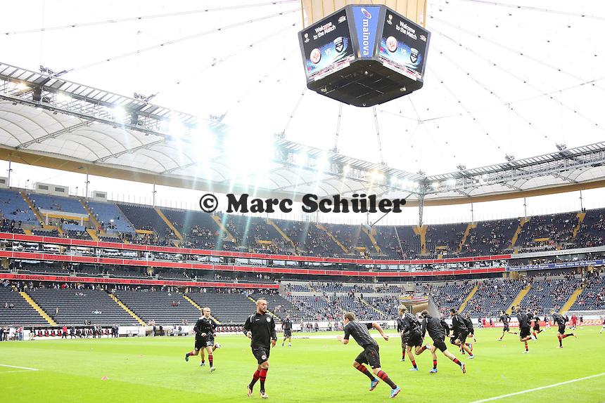 Eintracht läuft sich warm - 1. Spieltag der UEFA Europa League Eintracht Frankfurt vs. Girondins Bordeaux