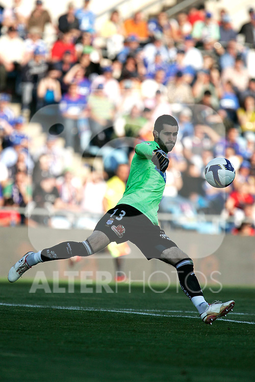 Recreativo de Huelva's Asier Riesgo during La Liga match, March 22, 2009. (ALTERPHOTOS/Alvaro Hernandez).