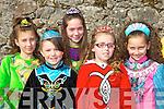 ..Irish dancers l-r: Cora Lee-Griffin, Chloe Howe, Elaina Noriss, Louise Kissane, Sian Deggan at the Killarney St Patricks parade on Thursday..