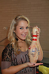 One Life To Live's Kristen Alderson and bowling pin at the Daytime Stars and Strikes Charity Event to benefit the American Cancer Society at the Bowlmore Lanes, New York City, New York. (Photo by Sue Coflin/Max Photos)