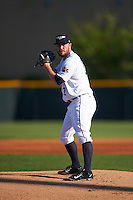 Lakeland Flying Tigers starting pitcher Alex Wilson (17), on rehab assignment from the Detroit Tigers, gets ready to deliver a warmup pitch during a game against the Tampa Yankees on April 7, 2016 at Henley Field in Lakeland, Florida.  Tampa defeated Lakeland 9-2.  (Mike Janes/Four Seam Images)