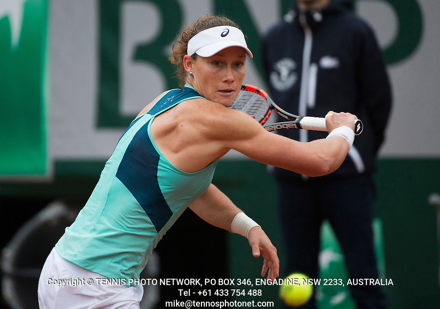 SAMANTHA STOSUR (AUS)<br /> <br /> TENNIS - FRENCH OPEN - ROLAND GARROS - ATP - WTA - ITF - GRAND SLAM - CHAMPIONSHIPS - PARIS - FRANCE - 2016  <br /> <br /> <br /> <br /> &copy; TENNIS PHOTO NETWORK
