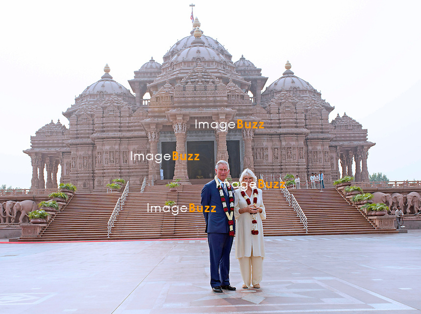 PRINCE CHARLES AND CAMILLA<br /> visit the Akshardham Temple, New Delhi, India_08/11/2013.<br /> The couple are on a 9-day tour of India