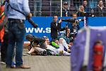 16.07.2017, Stadion an der Bremer Bruecke, Osnabrueck, GER, FSP VfL Osnabrueck vs SV Werder Bremen<br /> <br /> im Bild<br /> Florian Kainz (Werder Bremen #7) und Furkan Zorba (VfL Osnabrueck #3) laden nach Duell / Zweikampf zwischen Fotografen, <br /> <br /> Foto &copy; nordphoto / Ewert