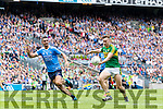 James O'Donoghue Kerry in action against James McCarthy Dublin in the All Ireland Senior Football Semi Final at Croke Park on Sunday.