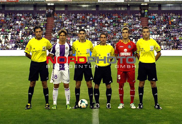 Real Valladolid¬¥s Alvaro Rubio and Getafe's  Rafa Lopez captains during La Liga match.August 31,2013. Foto © nph / Victor Blanco)