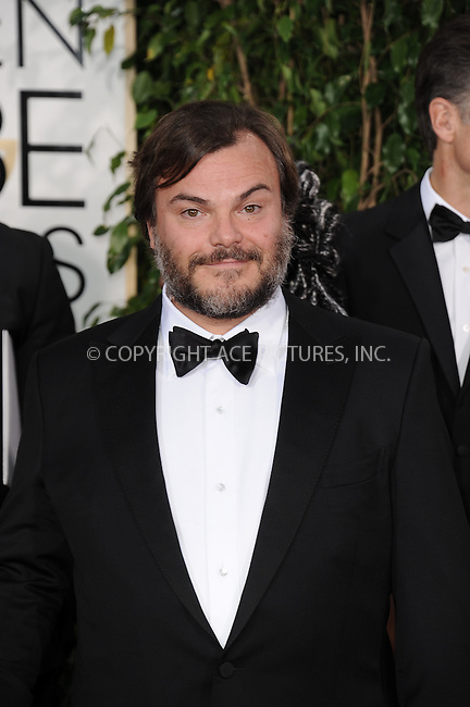 WWW.ACEPIXS.COM<br /> <br /> January 11 2015, LA<br /> <br /> Jack Black arriving at the 72nd Annual Golden Globe Awards at The Beverly Hilton Hotel on January 11, 2015 in Beverly Hills, California.<br /> <br /> By Line: Peter West/ACE Pictures<br /> <br /> <br /> ACE Pictures, Inc.<br /> tel: 646 769 0430<br /> Email: info@acepixs.com<br /> www.acepixs.com