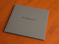 Barrow 34 pages, features twelve black and white and four color images, archival pigment printing on Moab Entrada Bright, Hardbound in slipcase. Edition of ten with two artist's proofs. Signed and numbered. First copy $450, with price increases as edition is sold.<br />