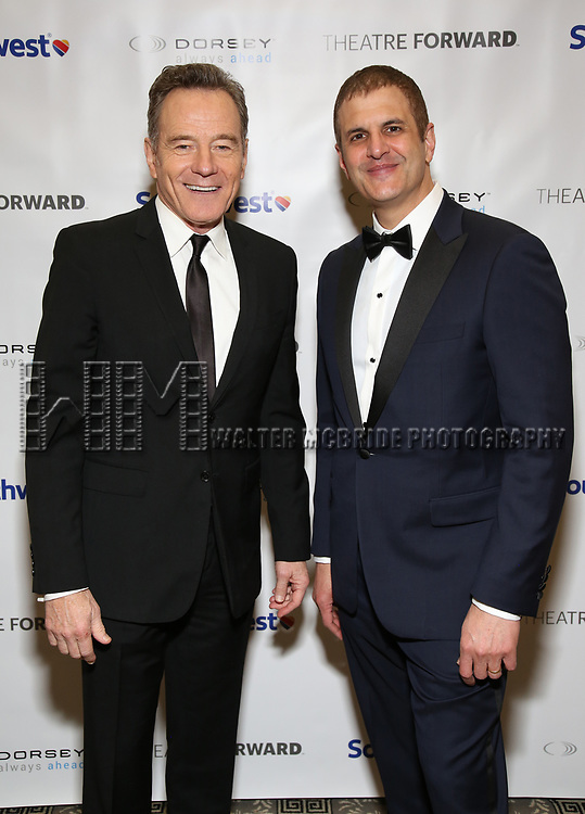 Bryan Cranston and Joseph Haj during a reception for Theatre Forward's Chairman's Awards Gala at the Pierre Hotel on April 8, 2019 in New York City.