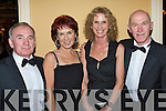Having a great time at the Irish Furnishing Trades Benevolent Association Kerry Annual Ball in The Ballygarry House Hotel on Saturday night were l/r Tom Scanlon, Castlegregory, Olivia Cannon, Castlegregory, Kathy & Noel Scanlon, Leith West.   Copyright Kerry's Eye 2008