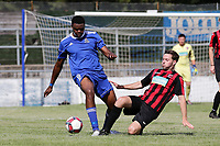 Michael Ogboin of Redbridge during Redbridge vs Saffron Walden Town, Essex Senior League Football at Oakside Stadium on 4th August 2018