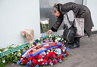 January 7 2018, PARIS FRANCE<br /> Commemorative Ceremony of the 7 January<br /> 2015 terrorist attacks against the HyperCacher supermarket Porte de Vincennes. A Memorial Plaque is put in Memory of the Victims. # CEREMONIES D'HOMMAGE AUX VICTIMES DES ATTENTATS DE CHARLIE HEBDO ET DE L'HYPER CACHER