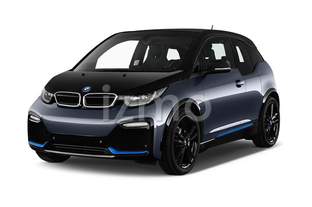 2018 BMW i3 S 5 Door Hatchback angular front stock photos of front three quarter view