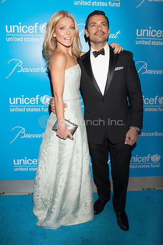 NEW YORK, NY - NOVEMBER 27: Kelly Ripa and Mark Consuelos attend the Unicef SnowFlake Ball at Cipriani 42nd Street on November 27, 2012 in New York City. © Diego Corredor/MediaPunch Inc.