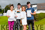 Pobalscoil Chorca Dhuibhne students Niamh Galvin, Ian Ó Gealbhain, Ellen Winters and Aidan O'Connor delighted with their Leaving Certificate results.