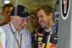 John Surtees (GBR) - Sebastian Vettel (GER), Red Bull Racing<br />  Foto &copy; nph / Mathis<br />  Foto &copy; nph / Mathis