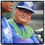 #OTD On This Day, May 19, 2016, Glenn Hubbard coached the Lexington Legends in a game at Fluor Field at the West End in Greenville, South Carolina. Hubbard played his first 10 seasons in the majors with the Atlanta Braves and his last two with the Oakland Athletics. Hubbard continues as bench coach for the Legends, a Kansas City Royals class A affiliate. (Tom Priddy/Four Seam Images) #MiLB #OnThisDay #MissingBaseball #nobaseball #stayathome #minorleagues #minorleaguebaseball #Baseball #SallyLeague #AloneTogether