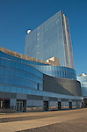Revel Atlantic City is about to open its 6.2 million square foot beachfront entertainment resort on the Boardwalk in Atlantic City, NJ, offering 44 retail shops, 12 restaurants, 6 pools, 3 theaters, 2 night clubs and a 5,800-seat arena. Revel has scheduled a preview beginning April 2 and plans its premiere May 25.