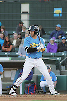 Myrtle Beach Pelicans infielder Joey Gallo #14 at bat during a game against the Potomac Nationals at Ticketreturn.com Field at Pelicans Ballpark on April 16, 2014 in Myrtle Beach, South Carolina. Potomac defeated Myrtle Beach 7-3. (Robert Gurganus/Four Seam Images)