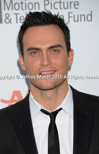 """LOS ANGELES, CA. - May 01: Cheyenne Jackson arrives at the 5th Annual """"A Fine Romance"""" Benefit at 20th Century Fox Studios on May 1, 2010 in Los Angeles, California."""