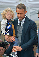 Actor Ryan Reynolds &amp; daughter James Reynolds (2) at the Hollywood Walk of Fame Star Ceremony honoring actor Ryan Reynolds.<br /> Los Angeles, CA. <br /> December 15, 2016<br /> Picture: Paul Smith/Featureflash/SilverHub 0208 004 5359/ 07711 972644 Editors@silverhubmedia.com