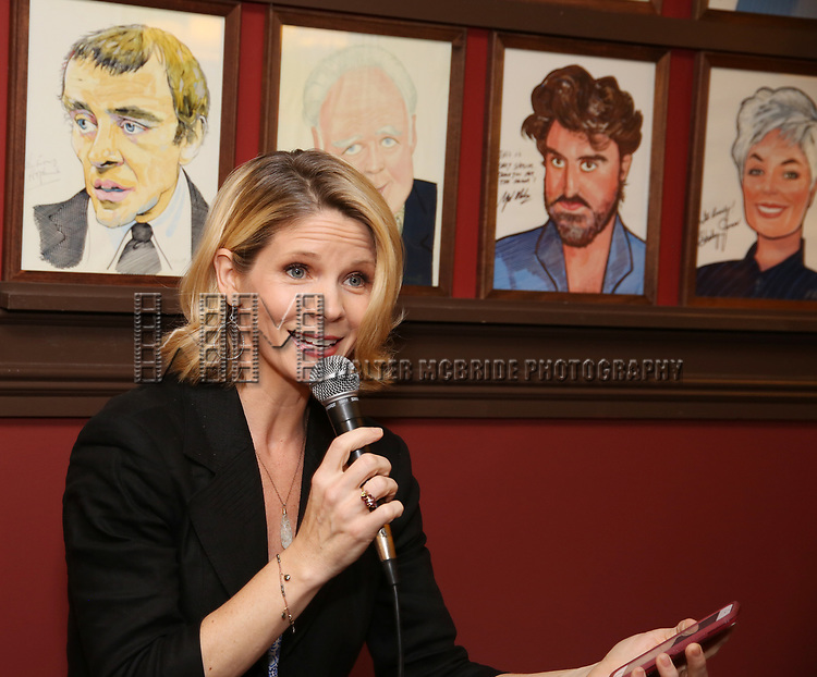 Kelli O'Hara during the Ben Platt Sardi's Portrait unveiling at Sardi's on May 30, 2017 in New York City.