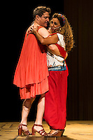 "Lolita and Pedro Mari Sanchez during theater play ""La Asamblea de las Mujeres"" at Teatro La Latina in Madrid. August 23 2016. (ALTERPHOTOS/Borja B.Hojas) /NORTEPHOTO.COM"