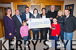 South Kerry Tractor Run Success produces a cheque for €7682 for the Kerry/Cork Helth Link Bus, pictured here in the Ring of Kerry Kotel at the presentation on Thursday last were front l-r; Eibhlín & Killian Lynch, back l-r; Breda Dyland(Director Kerry Cork HLB), Sean Prendergast, Cormac Lynch(Organiser Tractor Run), Eileen O'Shea, Mary Adare, Jay Galvin(Chairman Kerry/Cork HLB), Orla O'Connor & Barry O'Shea.