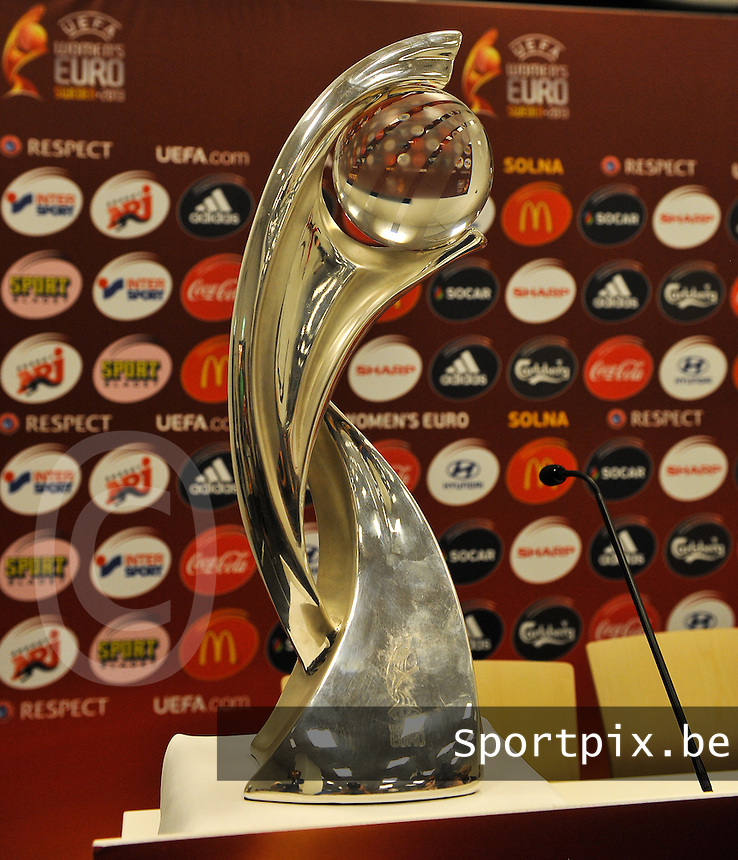 Friends Arena Solna - Stockholm ; MD-1 press conference Germany ;<br /> Europa UEFA  Women's Cup 2013 <br /> foto DAVID CATRY / Nikonpro.be
