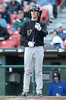 May 3, 2010:  First Baseman Danny Dorn (17) of the Louisville Bats at bat during a game vs. the Buffalo Bisons at Coca-Cola Field in Buffalo, NY.   Louisville defeated Buffalo by the score of 20-7.  Photo By Mike Janes/Four Seam Images