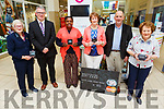 Manor West /Kerry's Eye competition winners at the Manor West Retail Shopping Centre on Thursday. L to r: Chris Griffin (Monalee), Derek Rusk (Manager Manor West Retail Park), Theresa Elumelu (Representing Aloysia Griffin (Tralee), Doreen Egan (Representing Irene Boyd, Causeway), Brendan Kennelly (Kerry's Eye, Eileen Williams (Kilcummin, representing her daughter Orla).